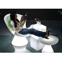Plastic LED Chaise Lounge Chair Bar LED Chair with Foot Stool