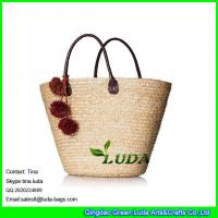 Details Of Luda 2016 Summer Straw Handbags Pom Poms Deco