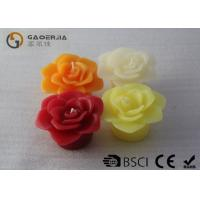 Best Flower Shape White Burning Candle For Home / Party / Events D8*4.5cm wholesale