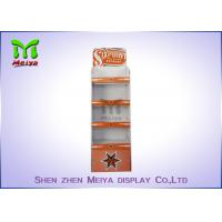 Best Supermarket Retail Exhibition Paper Corrugated Display Stands , Customized Color wholesale