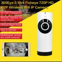 Best EC2 Mini 180° Panorama Camera Wireless WIFI P2P IP Night Vision Home Security Surveillance iOS/Android APP Control wholesale