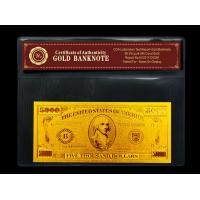 Best Pure 99.9% 24k gold dollar bill includes Certificate of Authenticity wholesale