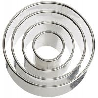 Best Plain Edge Round Cutters in Graduated Sizes, Stainless Steel, 4 Pc Set wholesale