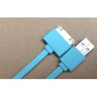 Best Noodle Flat Blue 30 Pin IPhone 4 Charger USB Cable / Ipad 2 USB Charger Cable wholesale
