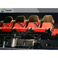Best Movie Equipment Pneumatic 7D Cinema System Standard Red Chair With Leg Sweep wholesale