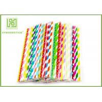 Best Personalized Pink Party Paper Straws For Holidays 197MM Logo Printable wholesale