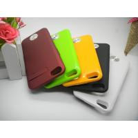 Best Brown Durable IPhone 5 External Battery Case Ultra-thin for Polymer-Li Battery wholesale