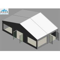 Best Heavy Duty 6 x 10M White PVC Marquee Tent With Glass Fire Door Fireproof OEM wholesale