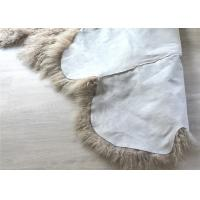Cheap 2 * 4 Feet Home Upholstery Mongolian Lamb Throw Blanket With Hide Pelt for sale