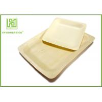 Best 10'' Thanksgiving Holiday Disposable Bamboo Plates Natural Barbecue / Sandwich Tray For Picnic wholesale