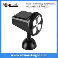 Best Solar Security Spotlight with Motion Sensor 4LED 350LM Wireless Battery Powered Simulation Camera Light wholesale