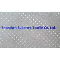 Cheap Cotton Twill Dot Print Elastic Stretch Fabric 32S 40D 180GSM for sale