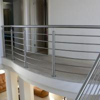 Cheap Wood Handrail Stainless Steel Rod Railing for Staircase Design for sale