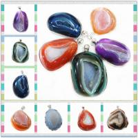 Cheap Colorful Natural Druzy Agate Pendant 30 - 50mm, Stone Necklace Pendants for sale