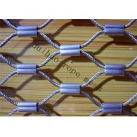 Buy cheap Ferruled Stainless Steel Rope Mesh, Knotted Wire Mesh Cable Tray in Worksite from wholesalers