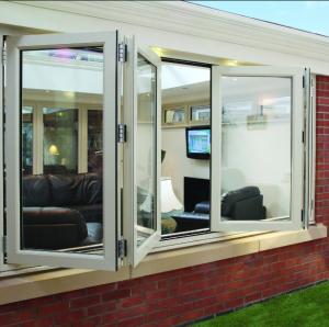 Best Double panel folding glass windows prefabricated windows and doors wholesale