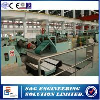 Best Horizontal Steel Shearing Machine , Common Coil Steel Uncoiling Cut To Length Machine wholesale