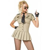 China Womens Halloween Party Adult Costumes Sexy Sheriff Costume , XS S M L XL Size on sale