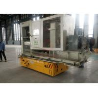 China Flexible Steerable Electric Trackless Transfer Bogie On Cement Floor on sale