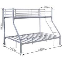 China Cheap Price Kd Steel Metal Tubes Triple Bunk Bed on sale