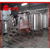 Best 500L Micro Red Copper Beer Brewing Equipment 100MM Insulation Thickness wholesale