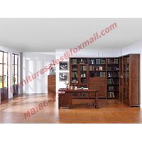Best Solid Wooden with Glass Door Material Bookcase Set  for Living Room Furniture wholesale