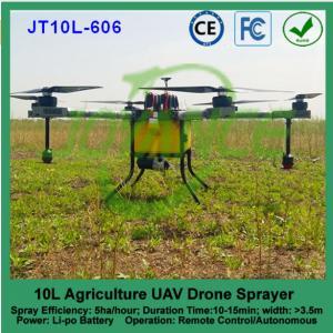 China 10 kg crop spraying uav , rc agricultural pesticide drone sprayer , battery type uav agriculture for Ecuador on sale