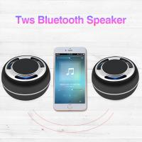 China Mobil phone wireless charging bluetooth speaker TWS portable BT speaker with MP3 music AUX and FM on sale