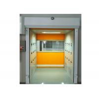 Best PVC Rolling Shutter Door Cleanroom Air Shower Micro-electronics PLC Control System wholesale