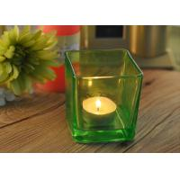 Best OEM Square Replacement Glass Candle Holder With Different Colors wholesale