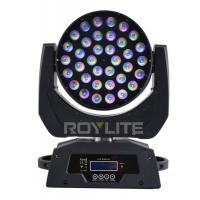 Best RGBW Multi Color LED Wash Moving Head , 36 x 10w Beam Angle 30° Show Pro Lights wholesale