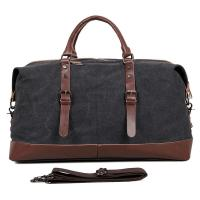 """Best Large Grey Canvas Mens Luggage Duffel Bags For Outdoor 21.5"""" L X 9.5"""" D X 12"""" H wholesale"""