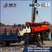 Best hydraulic trucked mounted portable DFQ-200C model water well drilling rigs for sale wholesale