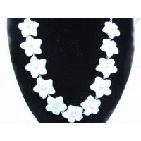 Best Natural White 16 Inches Handcrafted Shell Necklace Jewelry MaKing wholesale