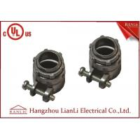 Best Flexible Conduit Straight Squeeze Connector Electrical Zinc Die Casting UL Approvals wholesale