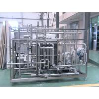 Cheap Industrial Yoghurt / Ice Cream Pasteurizer 10 T / H With 52 M2 Heat Exchanging for sale