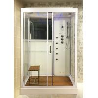 Cheap White Glass Shower Cabin Complete Shower Stalls With Brass Jets Computer Control for sale