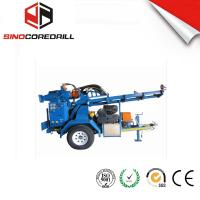 Best 200M Protable Small Trailer  Hydraulic Water Well Drilling Rig Borehole Drilling Equipment wholesale
