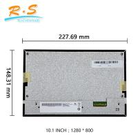 Buy cheap 1280 * 800 LVDS Interface Industrial LCD Screen High Contrast Ratio 40pin G101EVN03.0 from wholesalers