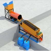 China Gold Washing Plant Alluvial Placer 80tph Ore Dressing Equipment on sale