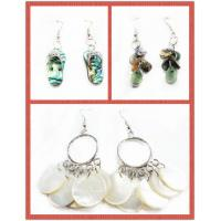 Cheap OEM Colorful Handmade Shell Jewelry Earring Carving With Stainless 10-30mm for sale