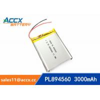 Cheap 894560 pl894560 3.7V 3000mAh battery supplier rechargeable battery for miner for sale