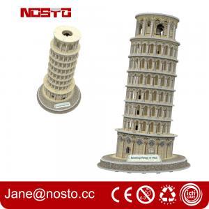 Best Architectural models of famous buildings , 3D puzzle souvenir leaning tower of pisa wholesale
