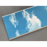 Best Hot Stamping 250 × 7mm Ceiling PVC Panels  With Blue Sky And White Clouds wholesale