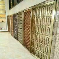 China Interior Design stainless steel partition wall laser cut screen with brushed color for luxury architectural projects on sale