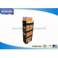 China Trade Show Cardboard Floor Display Stand By Offset Printing / Flexo Printing on sale