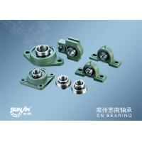 Green Cast Iron Pillow Block Bearings 12 - 100 Mm With 2 / 3 / 4 Bolt Holes