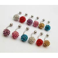 Best Costume Jewelry Clay Pave Beaded Shamballa Drop Earrings, Shambhala Earrings wholesale