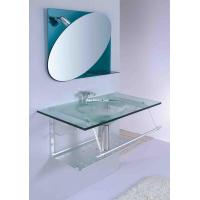 Best wash basin with soap dish and towel rack with single faucet hole bathroom vanity wholesale