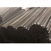 China Easy Maintenance 304 SS Chain Link Conveyor Belt Flat Surface For Glass Industry on sale